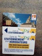 CARTE STATIONNEMENT  A PUCE CHIP CARD ARRAS NEUVE - PIAF Parking Cards
