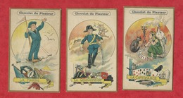 3 Chromos  - Chocolat Du Planteur - La Cartomancie  -  La Gendarmerie - La Marine - Chromo