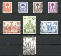 BE   868 - 875   XX   ---   Antituberculeux  --  Croix De Lorraine ,Dragons Et Châteaux - Belgium