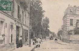 Z19- 92) ASNIERES - RUE DE NANTERRE - (ANIMEE - CYLINDRE ROULEAU COMPRESSEUR) - Asnieres Sur Seine