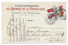 WWI MISTRAL HENRI 9 SECTION MUNITIONS 2 RAC TRESOR ET POSTES 122 POUR GRENOBLE - CPA CORRESPONDANCE MILITAIRE - Guerre 1914-18