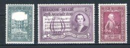BE   987 - 989   XX   ---  Anniversaire Naissance W.A. Mozart  --  Parfait état. - Belgium