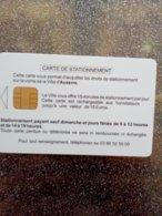 CARTE STATIONNEMENT  A PUCE CHIP CARD AUXERRE NEUVE - PIAF Parking Cards