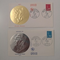 FRANCE 2 FDC Série MARIANNE 1971 - Collection Timbre Poste - 1970-1979