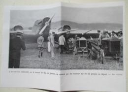 Rio De Janiero - Avion Arc En Ciel Tiré Par Tracteur Agricole Tracteur  - Ligne Paris Rio   - Coupure De Presse De 1929 - Tracteurs