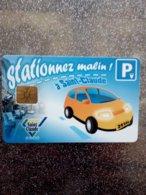 CARTE STATIONNEMENT  A PUCE CHIP CARD SAINT CLAUDE NEUVE - PIAF Parking Cards