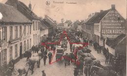 Ansichtskarte Belgien Thourout Torhout Peedefeest Strassenzug Feldpost WK 1 1917 - Torhout