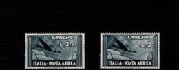 1933 - POSTA AEREA ESPRESSO SERIE 2 VALORI NUOVI MNH** - 1900-44 Victor Emmanuel III