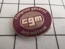 716b Pin's Pins / Beau Et Rare / THEME : MARQUES / CGM COMPTOIR GENERAL DES METAUX - Marques