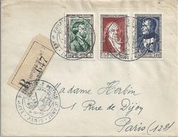 France Lettre Exposition Philaélique De La Mairie Du IXe à Paris YT 891 895 896 - Lettres & Documents