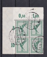 Deutsches Reich, 529 Im Eckrand-Viererblock, Gest.  (K 6181) - Germania