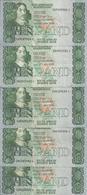 AFRIQUE DU SUD 10 RAND ND1990-93 XF++ P 120 E ( 5 Billets ) - Afrique Du Sud