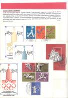 Sowjet Union / CCCP  3 Briefumschlage Mit SST Naposta 78  Michel # 4642 - 46 + Block 160 - Verano 1980: Moscu