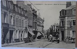 CPA WIMEREUX--RUE CARNOT ET HOTEL DE WIMEREUX - Autres Communes