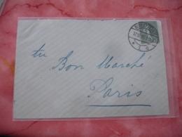 1918 Schlettstadt Liberation Alsace Cachet Allemand Sur Lettre Timbre Semeuse 15 C Lignee - 1877-1920: Période Semi Moderne