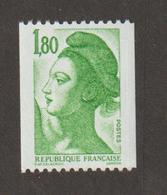 Variétés - 1985  - Type Liberté - N°  2378b - 1f80 Vert  -  N° Rouge Au Verso (b) (720) - Neuf Sans Charnière  - - Variétés Et Curiosités