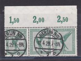 Deutsches Reich, 529 Im Dreierstreifen, Gest.  (K 6181e) - Germania