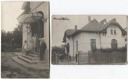 BUKAREST - BUCARESTI 1925/32 Villa Romanorum - 2 Real Photos - Rumänien