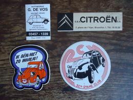 4 X STICKER / AUTOCOLLANT CITROEN  ( 2 CV - DYANE - GARAGE ) - Stickers