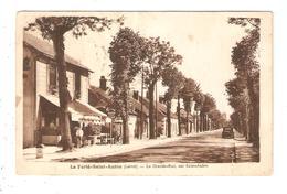 CPA 45 LA FERTE SAINT AUBIN La Grande - Rue Sur Saint Aubin Maisons Café Voiture - La Ferte Saint Aubin