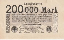 Deutsches Reich / 1923 / Reichsbanknote 200000 Mark, Bankfrisch (AM61) - Otros