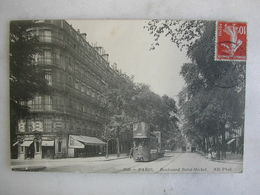 TRAMWAY - PARIS - Boulevard Saint Michel - Tramways