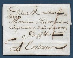 Ariège -  Cachet  DE FOIX   Sur Lettre De 1791 - Marcophilie (Lettres)