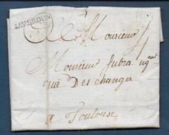 Ariège -  Cachet  SAVERDUN   Sur Lettre De 1784 - Marcophilie (Lettres)