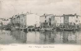 13 Martigues Quartier Brescon Cpa Cachet 1908 - Martigues
