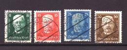 Duitse Rijk / Deutsches Reich 403 T/m 406 Used (1927) - Gebraucht