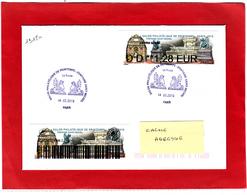 Atm-Lisa / Nabanco Lettre Suivie 1.28 € + Sticker Sur Lettre Obl 14.03.2019 1er Jour   Fontaine Saint-Michel, - 2010-... Viñetas De Franqueo Illustradas
