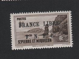Faux N° 271 Saint-Pierre Et Miquelon 3 F Surchargé Gomme Sans Charnière - Neufs