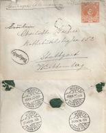 Ausland GS  Mariquina - Stuttgart  (taxiert / Bahnpost)            1924 - Chile