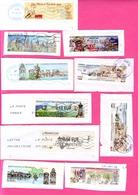 10 ATM LISA - OBLI CLERMONT FERRAND / MACON / FTP 2007 / DIGNE -/ MUSEE DE LA POSTE / VERDUN / CHOLET Etc... - 2010-... Vignettes Illustrées