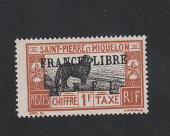 Faux Curiositée Taxe N° ? 1 F Saint-Pierre Et Miquelon Gomme Sans Charnière - Neufs
