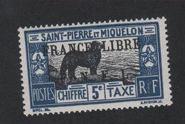 Faux Curiositée Taxe N° ? 5 C Saint-Pierre Et Miquelon Gomme Sans Charnière - Neufs