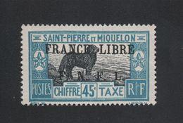 Faux Curiositée Taxe N° ? 45 C Saint-Pierre Et Miquelon Gomme Sans Charnière - Neufs