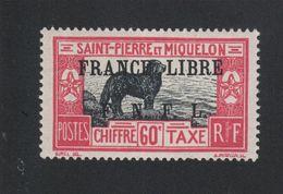 Faux Curiositée Taxe N° ? 60 C Saint-Pierre Et Miquelon Gomme Sans Charnière - Neufs