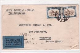 SUIDAFRICA - DURBAN - Lettre Par Avion Durban Pour Tourcoing Oblitération Le 21-01-1935 - Africa (Other)