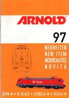 Catalogue ARNOLD Spur N & TT Neuheiten 1997 Club 2000 Rivarossi - Allemand