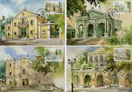 Macao - 2010 - World Heritage - St. Augustine Square - Maximum Cards Set - 1999-... Chinese Admnistrative Region
