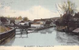 58 - CLAMECY : Le Beuvron En Aval Du Pont - Jolie CPA Village ( 3.870 Habitants ) - Nièvre - Clamecy