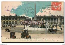 CPA Paris La Place De La Concorde Vue Sur Le Ministere De La Marine L'Automobile Club De France Et L - Plazas