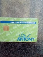 CARTE STATIONNEMENT CHIP CARD ANTONY NEUVE - PIAF Parking Cards