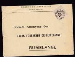 N° 72  /  Lettre De Bruxelles R . Chancellerie Vers  Rumelange Luxembourg Enveloppe Lsc - 1894-1896 Expositions