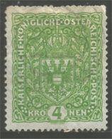 154 Austria 1916 Coat Arms Armoiries 4kr (AUT-438) - Used Stamps