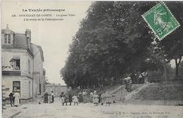85, Vendée, FONTENAY LE COMTE, La Place De La Viète à La Route De La Chataigneraie, Scan Recto-Verso - Fontenay Le Comte