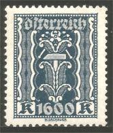 154 Austria 1922 Labor Industry 1600kr MH * Neuf CH (AUT-477) - 1918-1945 1ère République