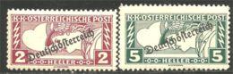 154 Austria 1919 Mercury Mercure Newspaper Journaux MNH ** Neuf SC (AUT-495) - Journaux
