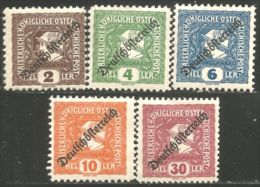 154 Austria 1919 Mercury Mercure Newspaper Journaux MH * Neuf CH (AUT-497) - Journaux